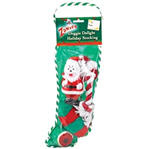 Pre-Stuffed 14 Inch Doggy Christmas Stocking - Model may vary
