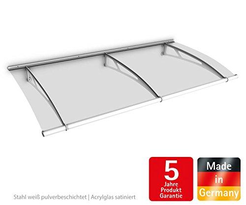 schulte vordach haust r acrylglas stahl wei pultvordach acrylglas satiniert 190 x 95 cm. Black Bedroom Furniture Sets. Home Design Ideas