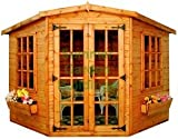 Summer Garden Buildings Corner Summerhouse 184 - 15mm T&G Throughout - 7' x 7' Delivered Only