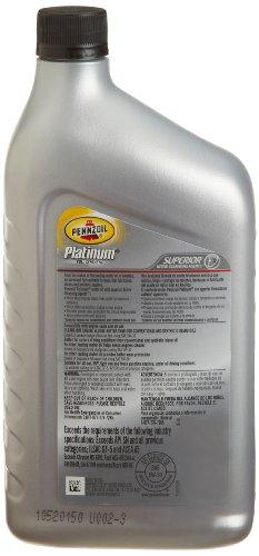 Pennzoil 550040834 6pk Platinum Euro Sae 5w 40 Full Synthetic Motor Oil 1 Quart Case Of 6