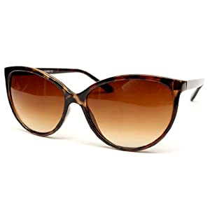 Thin Frame Cateye Vintage Retro Sunglasses Wm513 (tortoise brown, uv400)