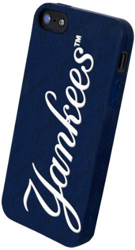 Great Price Forever Collectibles New York Yankees Team Logo Silicone Apple iPhone 5 & 5S Case