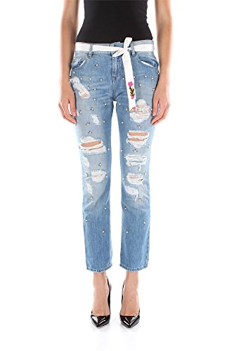 Jeans Twin-Set Donna Cotone Blu Denim S5JJ2S53700100 Blu 26