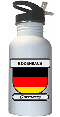 rodenbach-germany-city-white-stainless-steel-water-bottle-straw-top