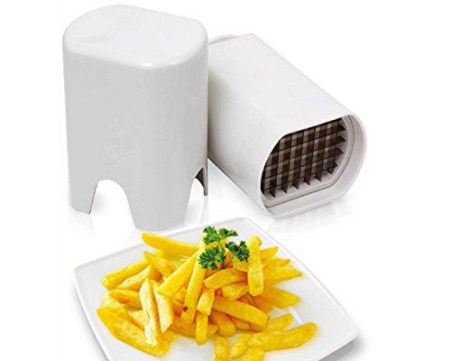 Akzente-setzen-mit-Wenko-Kartofelschneider-Pommes-Schneider-in-Wei-aus-hochwertigem-Kunststoff-French-Fries-Schneider-Schlmaschine