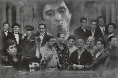 Gangsters Collage Godfather Goodfellas Scarface Sopranos Movie Poster Print Poster Poster Print, 36x24