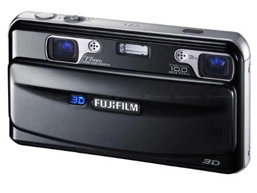 Fujifilm FinePix Real 3D W1 Camera - Black (10MP, 3x Optical Zoom) 3D/2D LCD