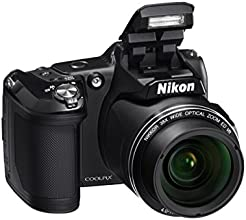 "Nikon Coolpix L840 Fotocamera Digitale Compatta, 16 Megapixel, Zoom 38X, Wi-Fi, LCD 3"" basculante, colore: nero [Nital card: 4 anni di garanzia]"