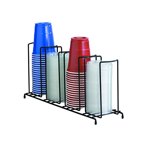 Dispense-Rite WR-4 Four Section Wire Rack Cup and Lid Organizer