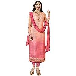 Radhika Multicoloured Georgette Dress Material