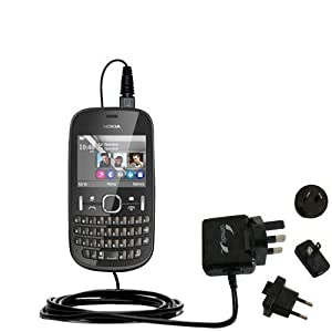 Amazon.com: Advanced Nokia Asha 201 compatible International Wall AC