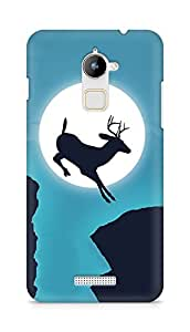 Amez designer printed 3d premium high quality back case cover for Coolpad Note 3 Lite (Deer jump moon sky creative)