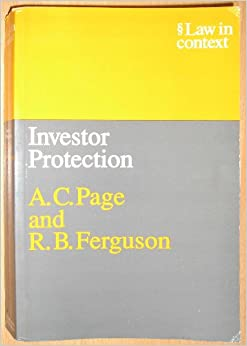 investor protection Financial services have a significant impact on investors it is important that investors make informed decisions and feel confident they are adequately protected if.
