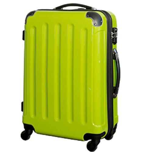 【MOAモア】TSAジッパー4輪鏡面スーツケース6260(SS機内持込可) (イエローグリーン)