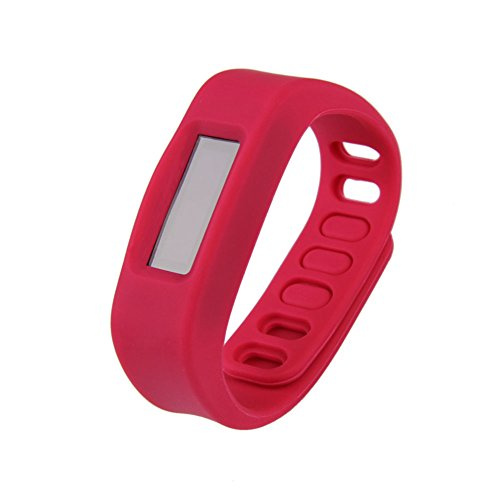 Vakind Bluetooth Wireless Sync Sport Sleep Wristband Smart Bracelet Healthy Fitness Tracker (Red)