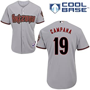 Tony Campana Arizona Diamondbacks Road Authentic Cool Base Jersey by Majestic by Majestic