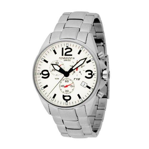 Torgoen T16202 - Reloj de mujer de cuarzo, correa de acero inoxidable color varios colores