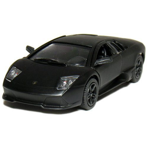 "5"" Die-cast Metal Primer Black Lamborghini Murcielago LP640 (Race Version)1/36 Scale, Pull Back n Go Action."