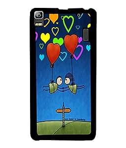 PrintVisa Metal Printed Love Designer Back Case Cover for Huawei P8-D4919
