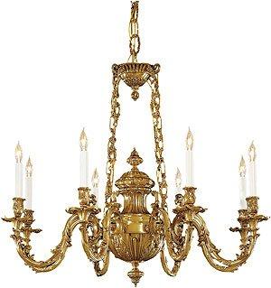 Amazon.com - Metropolitan N700408 8 Light Chandeliers - Antique Brass ...
