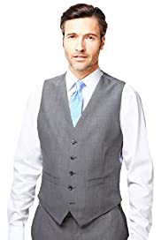 Regular Fit 5 Button Lightweight Waistcoat with Wool