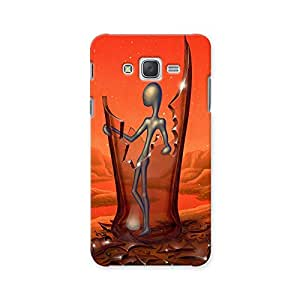 ArtzFolio Surreal Art Showing An Alien-Like Figure Inside A Broken Glass Bottle : Samsung Galaxy J7 Matte Polycarbonate ORIGINAL BRANDED Mobile Cell Phone Protective BACK CASE COVER Protector : BEST DESIGNER Hard Shockproof Scratch-Proof Accessories