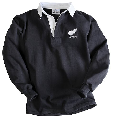 Old Black Rugby Dance: Rugby : Halbro NEW ZEALAND OLD STYLE JERSEY (BLACK) LONG
