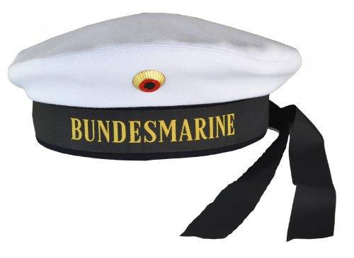 Matrosenmütze Marine weiss, L