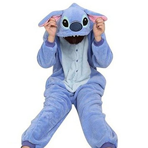 [Rapidev Adult Warm Sleepwear Cosplay Pajamas Costume Homewear Lounge Wear (S, Blue Stitch)] (Stitch Costumes Adults)
