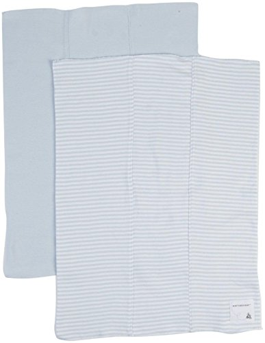 Burt's Bees Baby Baby Boys' 2 Pack Striped Burp Cloths (Baby) - Sky - One Size