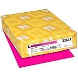 Neenah Astrobrights Premium Color Paper, 24 lb, 8.5 x 11 Inches, 500 Sheets, Fireball Fuchsia