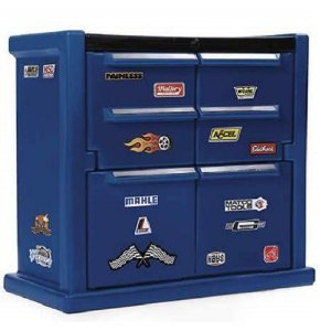 Toy / Game Step2 Tool Chest Dresser W/ Real Racing Decals - Perfect Storage Solution For A Child's Room