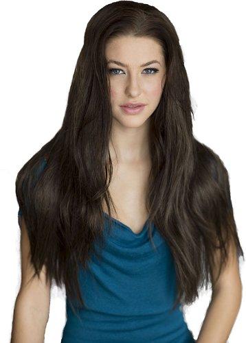 Annabelle 's Wigs Perücken braun lange gerade 3/4oder Halbperücke, Modell: Kimberly 250g