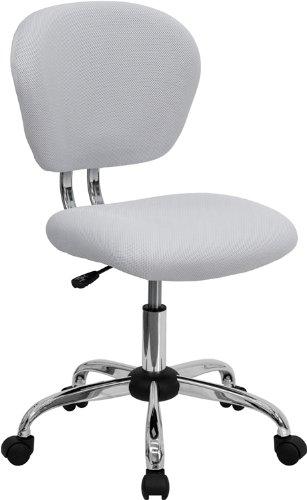 Flash Furniture H-2376-F-WHT-GG Mid-Back White