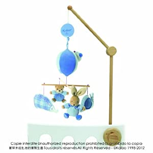 Kaloo K961094 - Móvil musical para bebé, diseño de animales, color azul