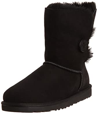 UGG Australia Womens Bailey Button Black Boot - 8