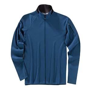 Ibex Outdoor Clothing Men's Shak Lite Full Zip Jacket, Bedrock Blue, Small