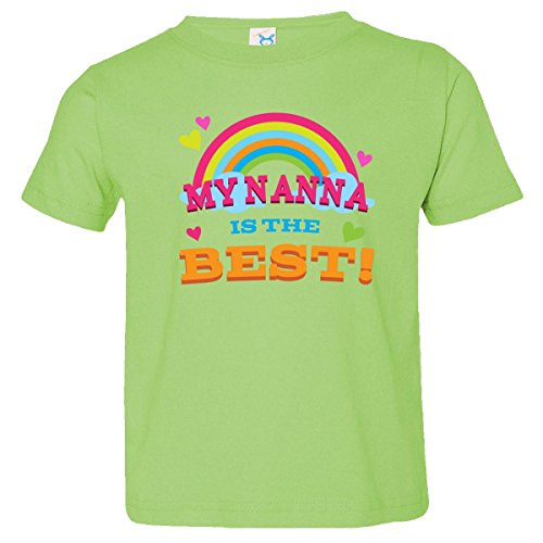 Inktastic Little Boys' My Nanna Is The Best Toddler T-Shirt 2T Key Lime