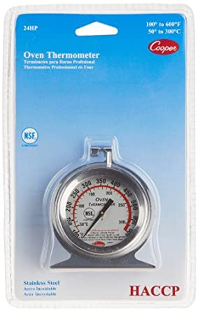 Cooper-Atkins 24HP-01-1 Stainless Steel Bi-Metal Oven Thermometer, 100 to 600 degrees F... by Cooper-Atkins