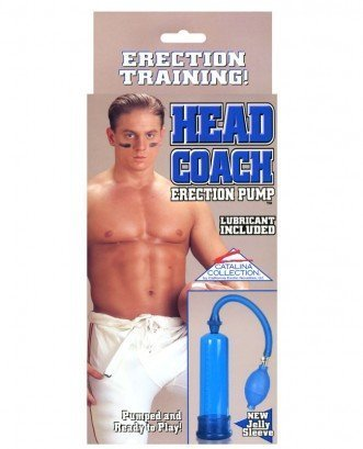 California Exotics Head Coach Penis Pump leluv easyop z grip penis pump 3 sleeves black clear