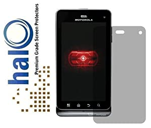 Halo Screen Protector Film Invisible (Clear) for Verizon Motorola Droid Milestone 3 (Latest Generation 2011) (3-Pack) - Premium Japanese Screen Protectors