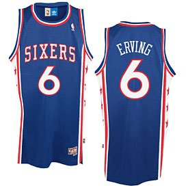 Philadelphia 76ers Julius Erving Royal Blue Hardwood Classics Swingman Jersey by Wrigleyville Sports