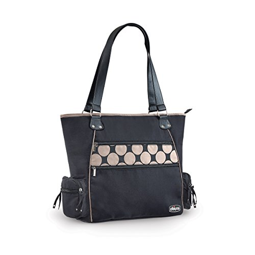 CHICCO Solare Tote Diaper Bag, Black - 1