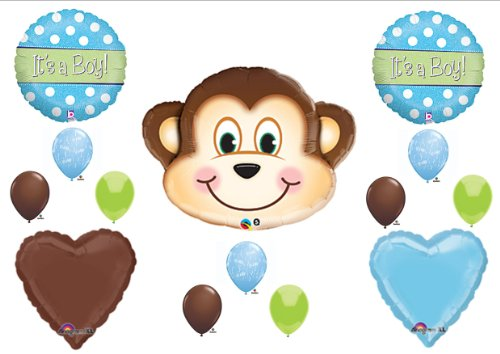 It'S A Boy Monkey Baby Shower Balloons Decorations Supplies Jungle Safari front-1066846