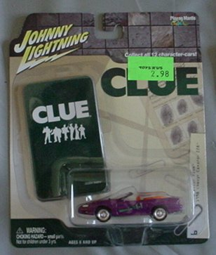 Johnny Lightning 1:64 Clue 1998 Chevy Camaro Z28 Professor Plum PURPLE - 1