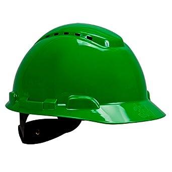 3M Hard Hat H-704V-UV, Uvicator Sensor, Vented, 4-Point Ratchet Suspension, Green