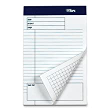 TOPS Docket Gold Project Planning Pad, 8 x 5 Inch, Task List, 40 Sheets, 6-Pack, White (77152)