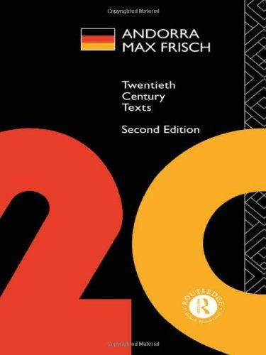 Andorra: Max Frisch (Twentieth Century Texts)