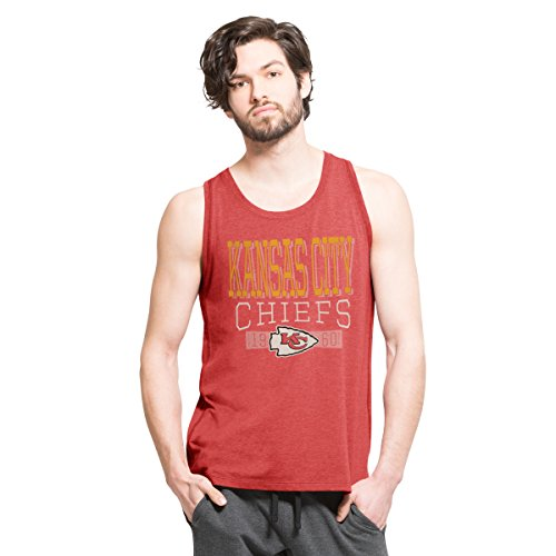 NFL Kansas City Chiefs Men's '47 Forward High Point Tank Top, Shift Red, X-Large