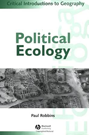 books info paul robbins political ecology critical introduction